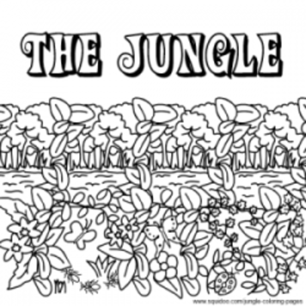 Jungle coloring pages hubpages for Tapir coloring page