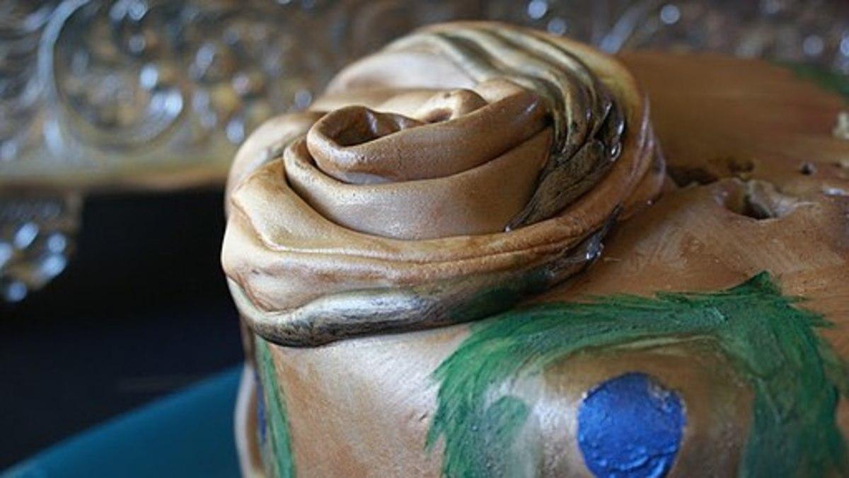 Peacock Cake Decor