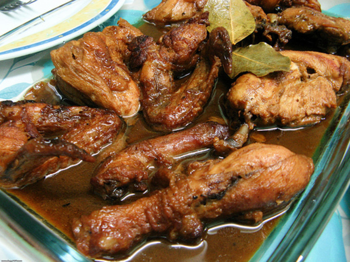 Chicken Adobo - Chicken Meat Cooked in Soy Sauce and Vinegar (Photo courtesy by dbgg1979 from Flickr.com)
