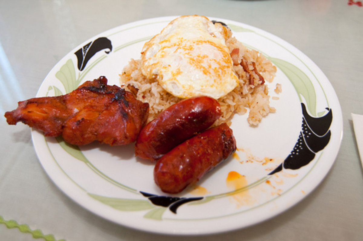 Tolosilog - Fried Rice with Sweetened Pork Meat, Chorizo and Fried Egg (Photo courtesy by VirtualErn from Flickr.com)
