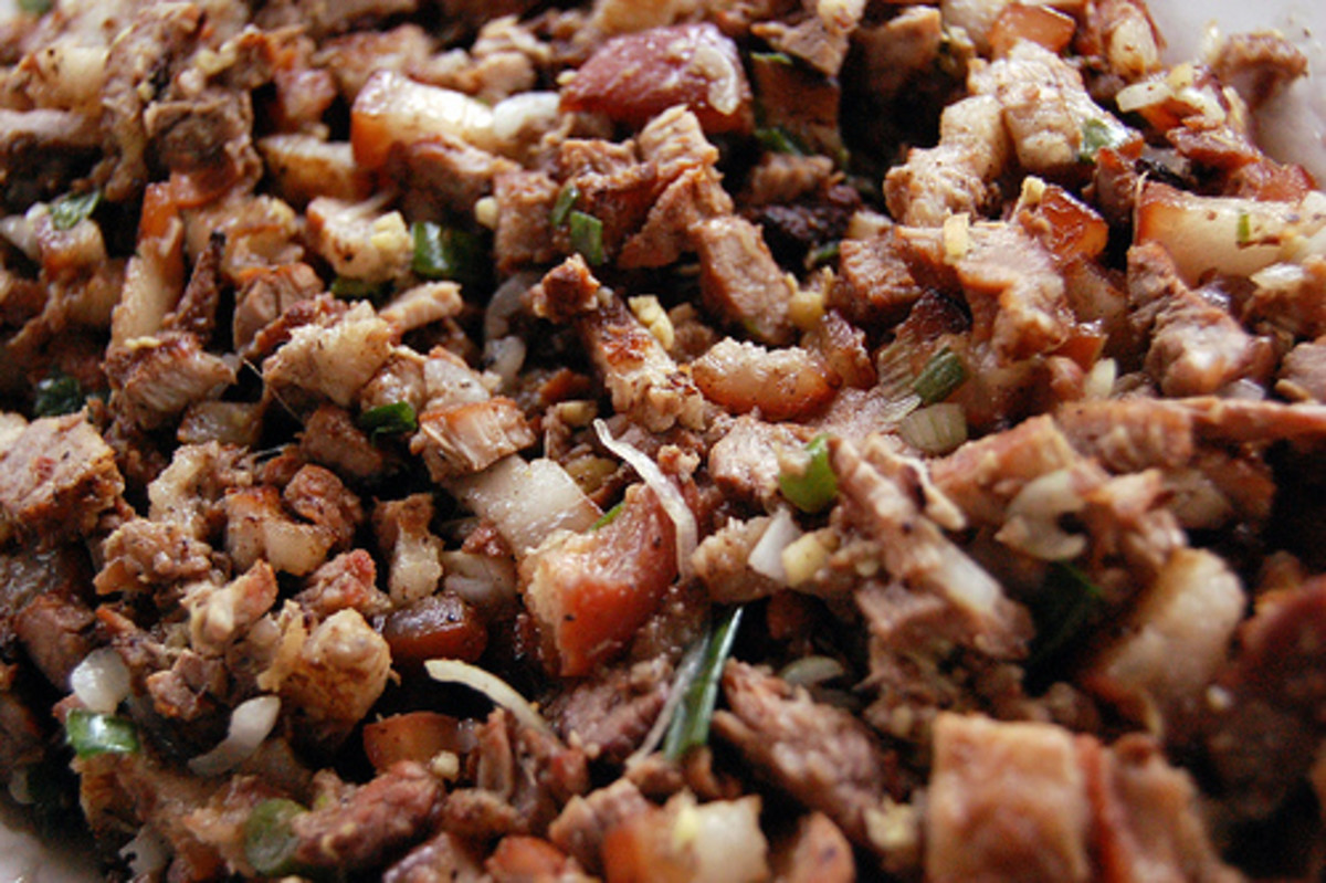 Sisig - Roasted Pork  Cut into Bits and Heavily Spiced (Photo courtesy by ~MVI~ from Flickr.com)