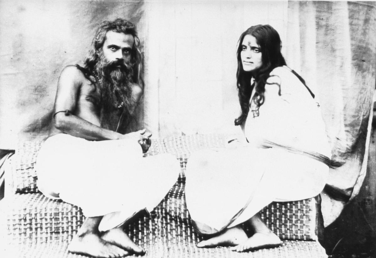 Sri Anandamayi Ma with Husband
