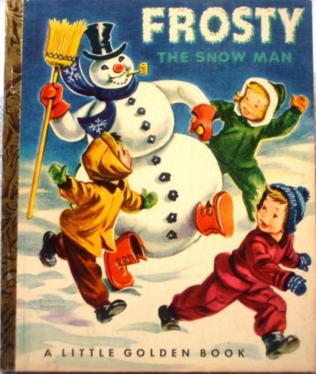 Frosty The Snowman Golden Book from 1950