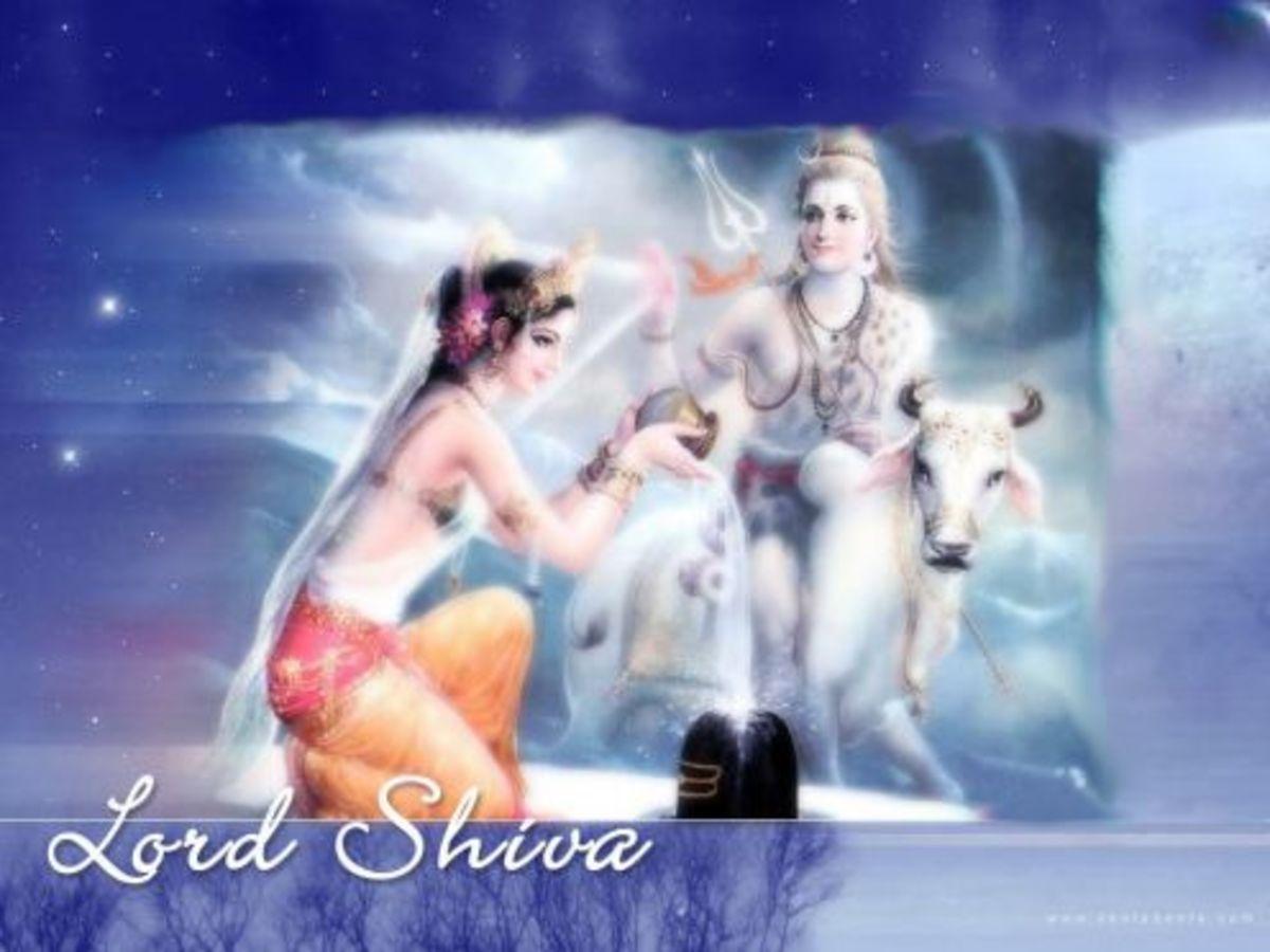 Shiva-Linga pooja (Ritualistic praying to God Shiva- Linga)