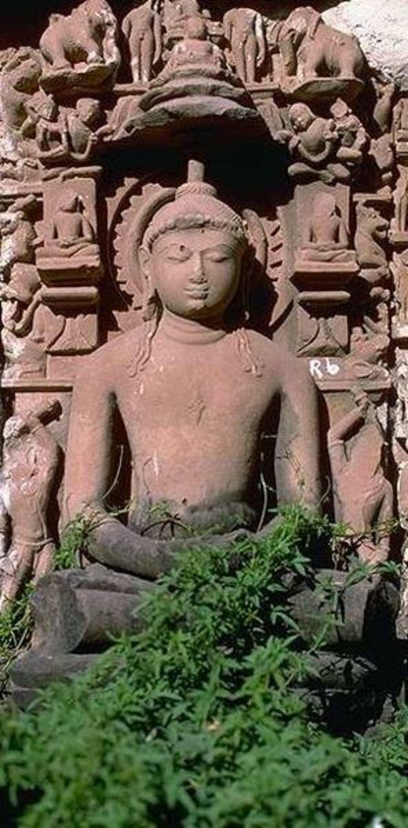 Rishabh Dev-a statue from a temple in Khajuraho