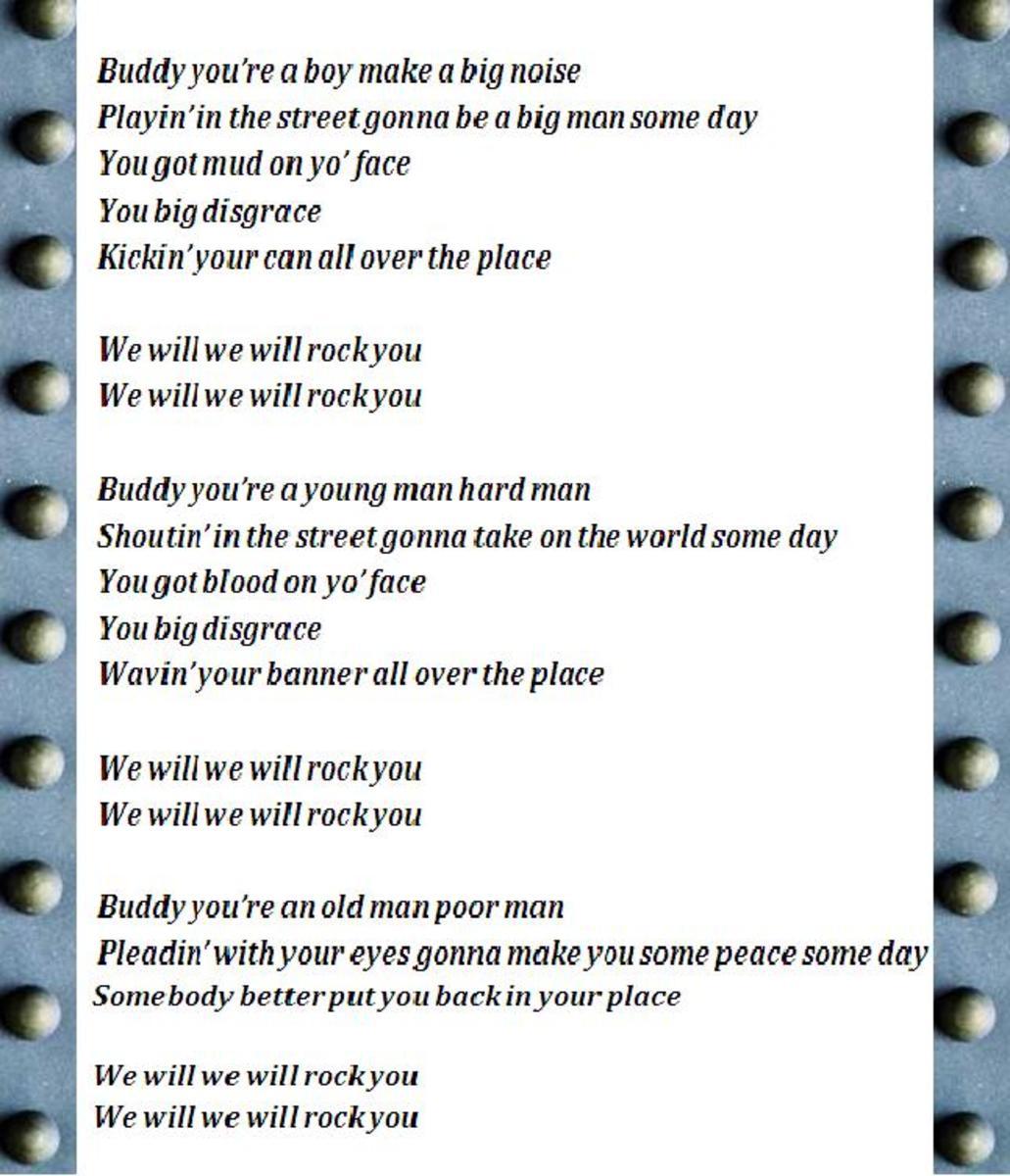 queen we will rock you lyrics