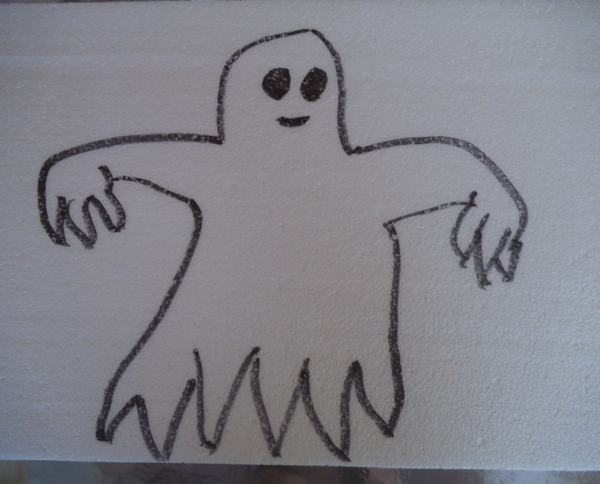 The main part of the ghost is still the basic bump for the head and raggedy bottom like an old bed sheet.