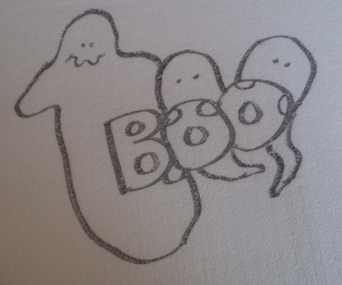The ghosts are basic blobs with a lump for a head and for arms