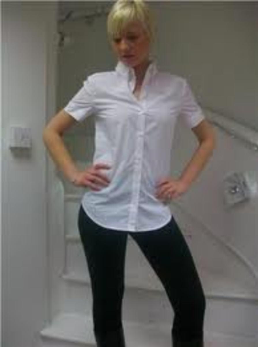 white sleeve shirt