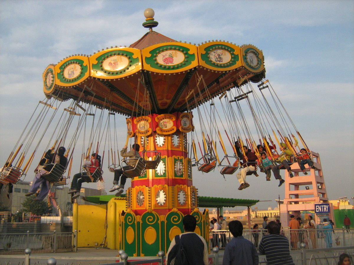 Shanghai Swinger Ride Worlds of Wonder Noida Delhi NCR India
