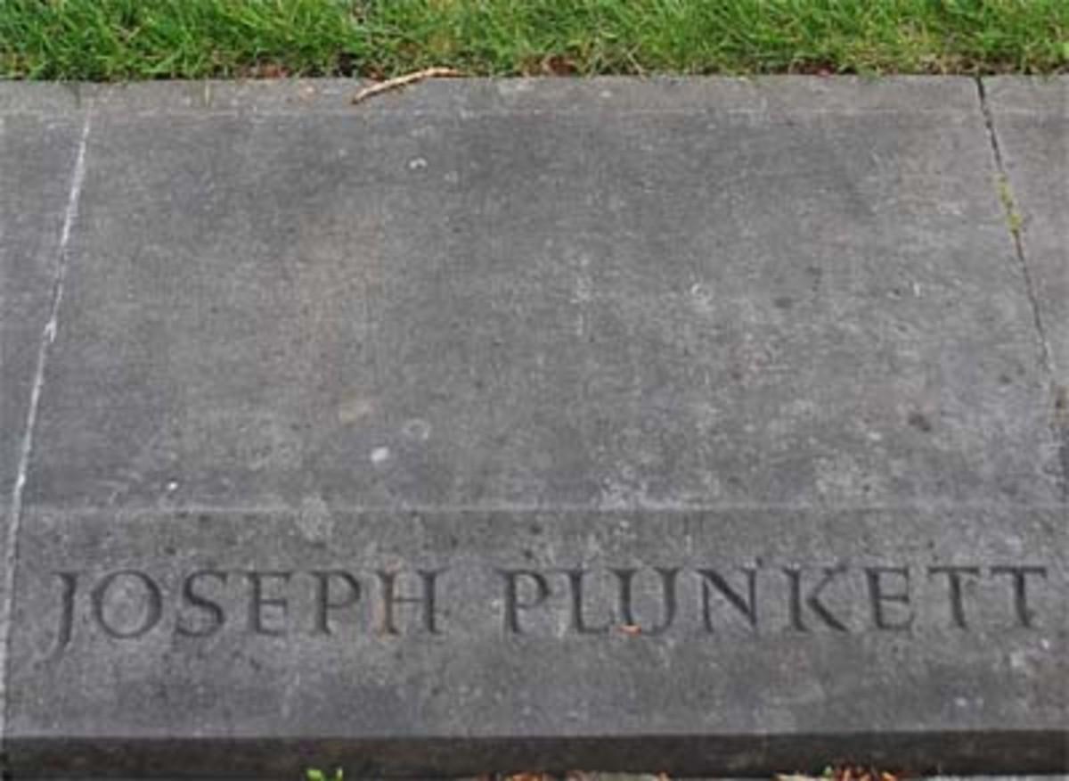 Grave stone of Joseph Plunkett in Arbour Hill