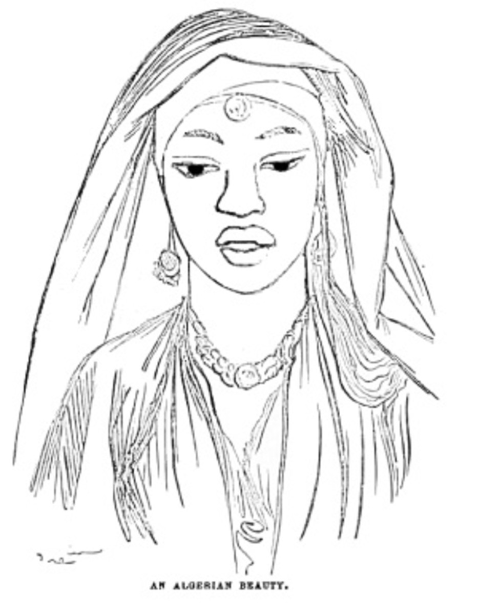 Desert People Coloring Pages