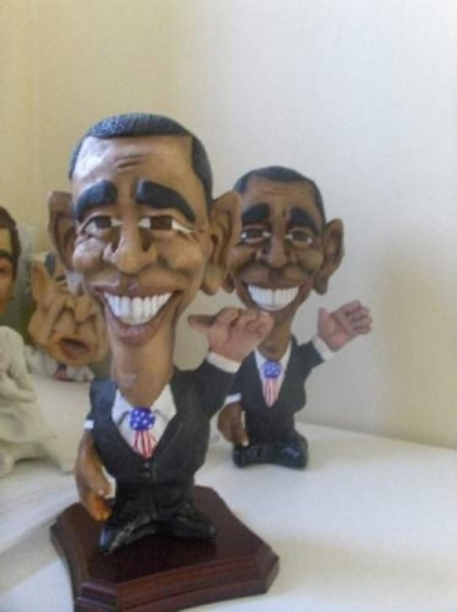 cartoon sculptures