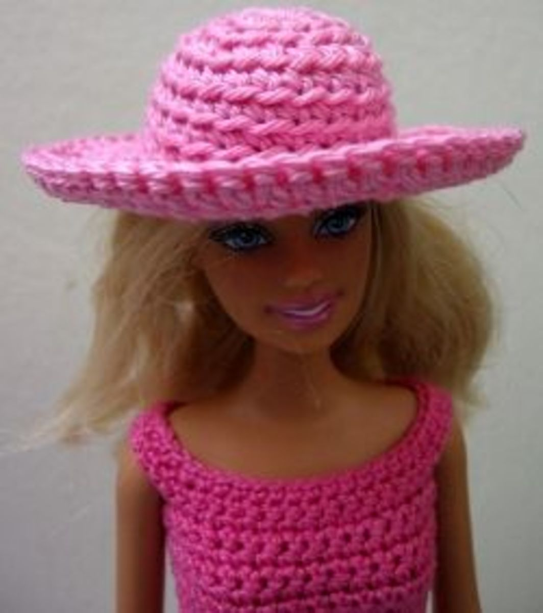 how to crochet barbie doll hat (pattern)