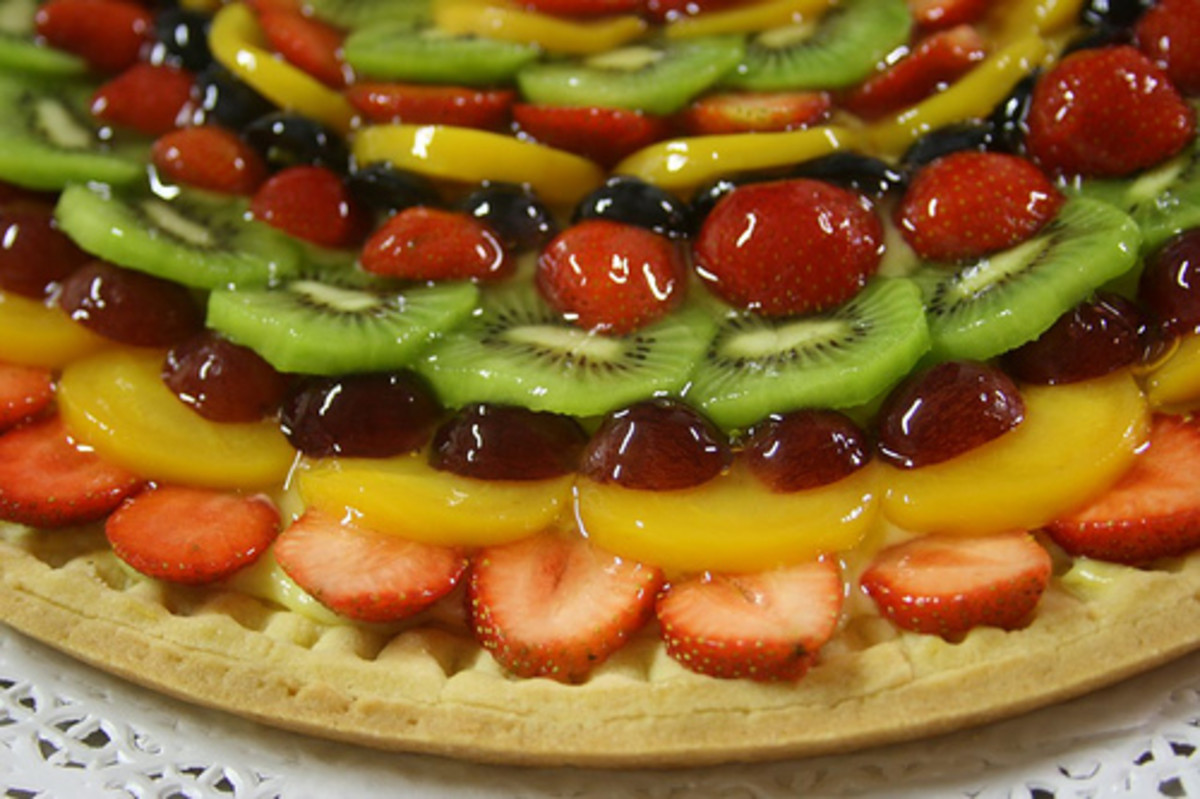 Torta d'frutta cake - delicious served chilled!