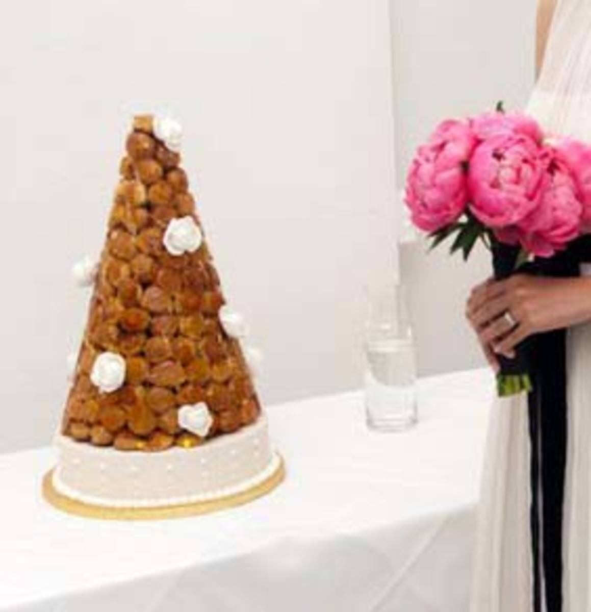 French Croquembouche Wedding Cake