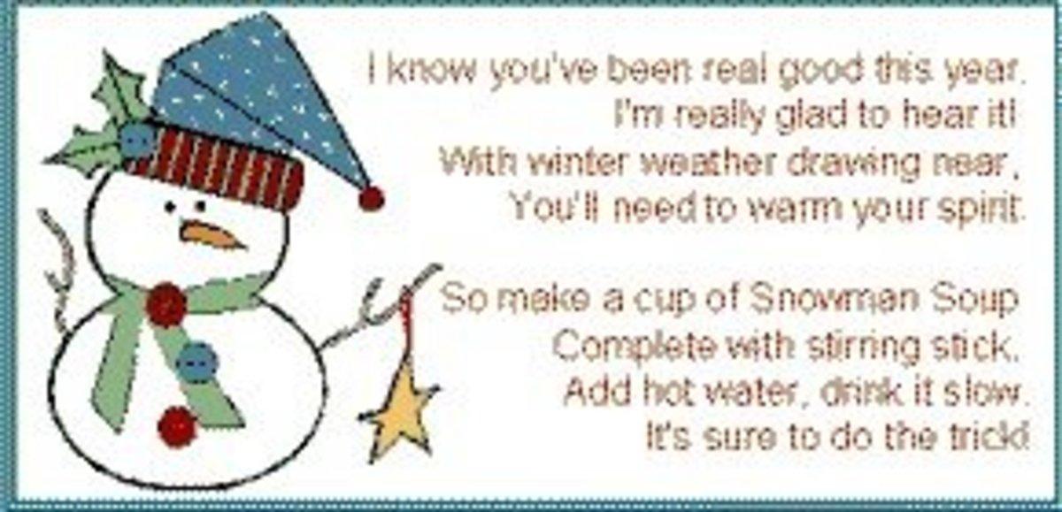 Snowman Soup Labels For your snowman soup.