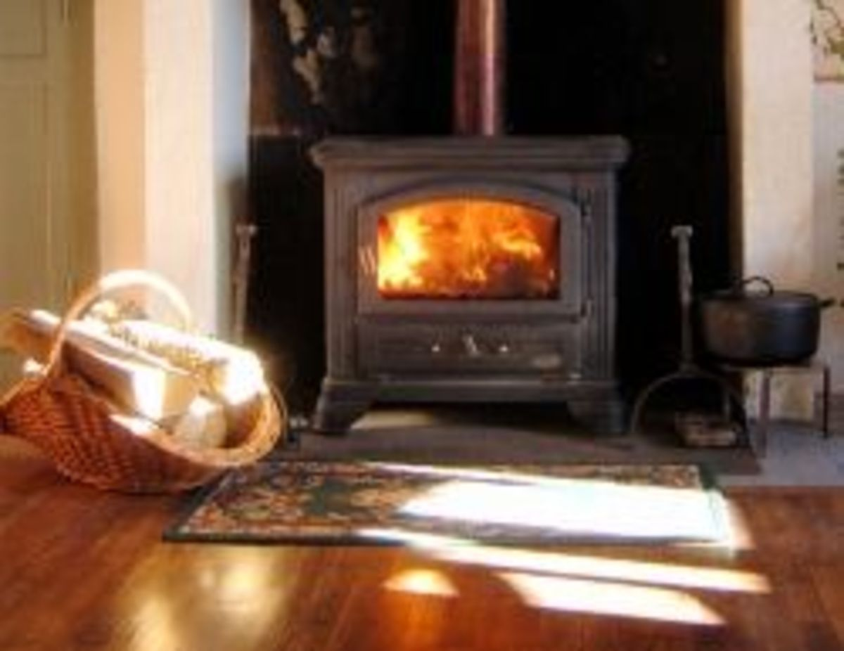 A hot log stove for cold October nights
