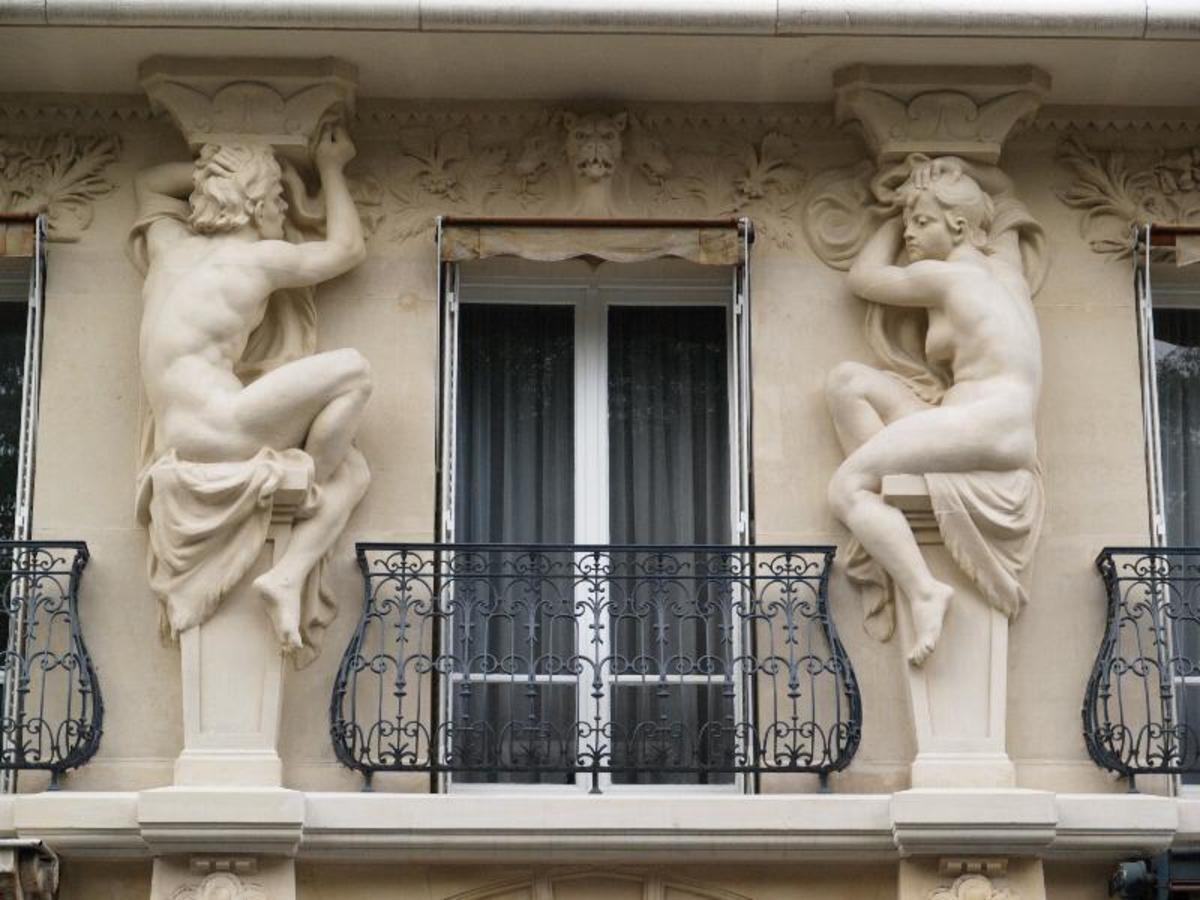 Caryatids are sculpted figures that are incorporated in an architectural support.