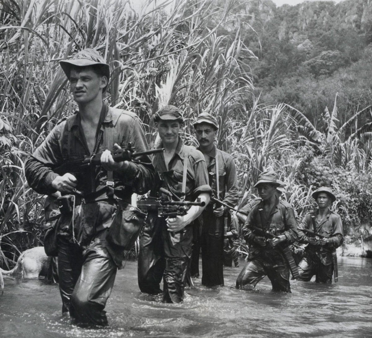 SAS trackers in the Malayan jungle in 1950