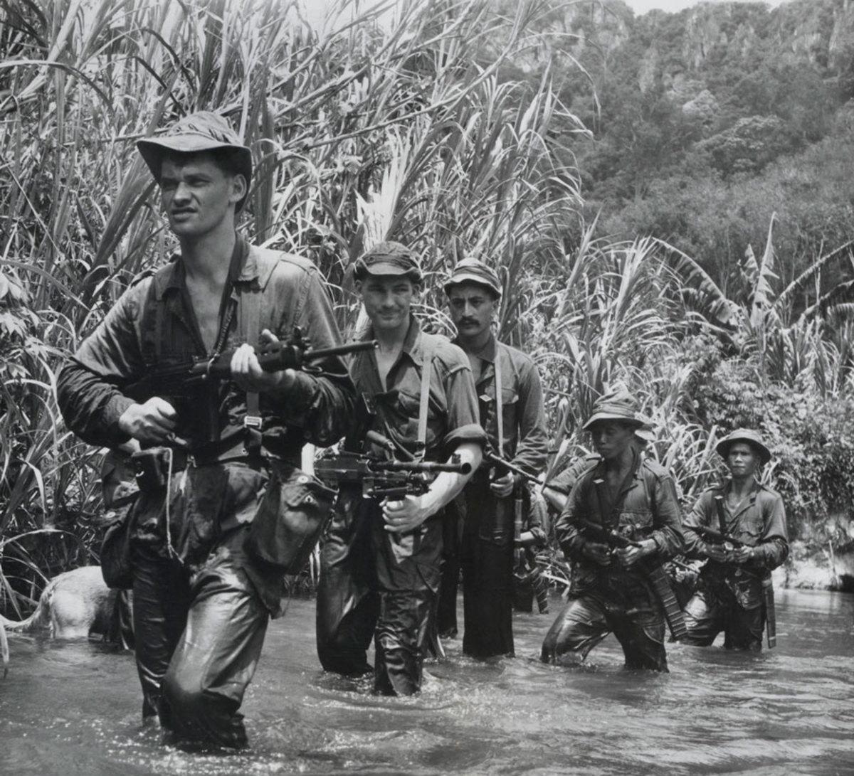 SAS trackers in the Malayan jungle in 1950