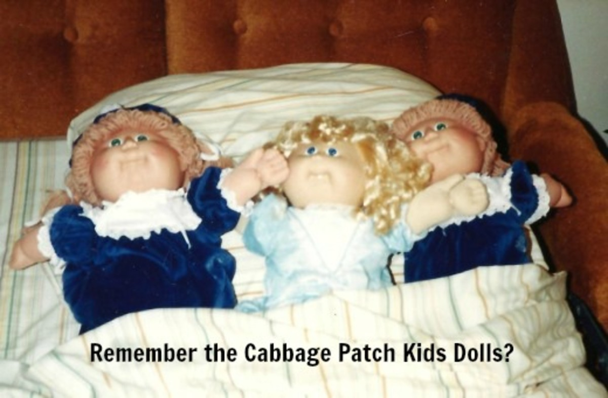 Some of my niece's cabbage patch kids.