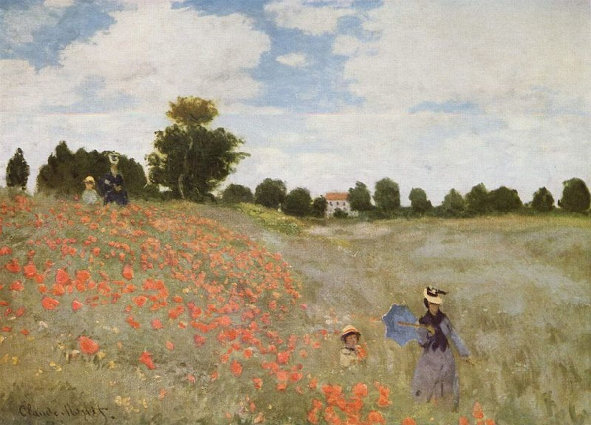 """Poppies Blooming"" by Claude Monet"