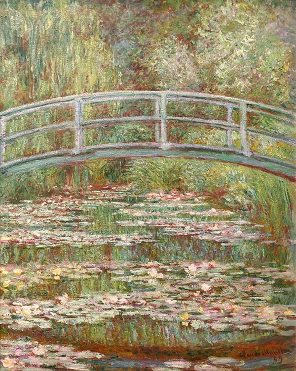 """""""Bridge over a Pond of Water"""" by Claude Monet"""