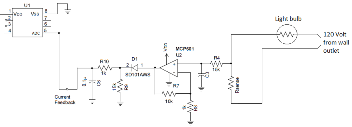 Basic current sense amplifier circuit.