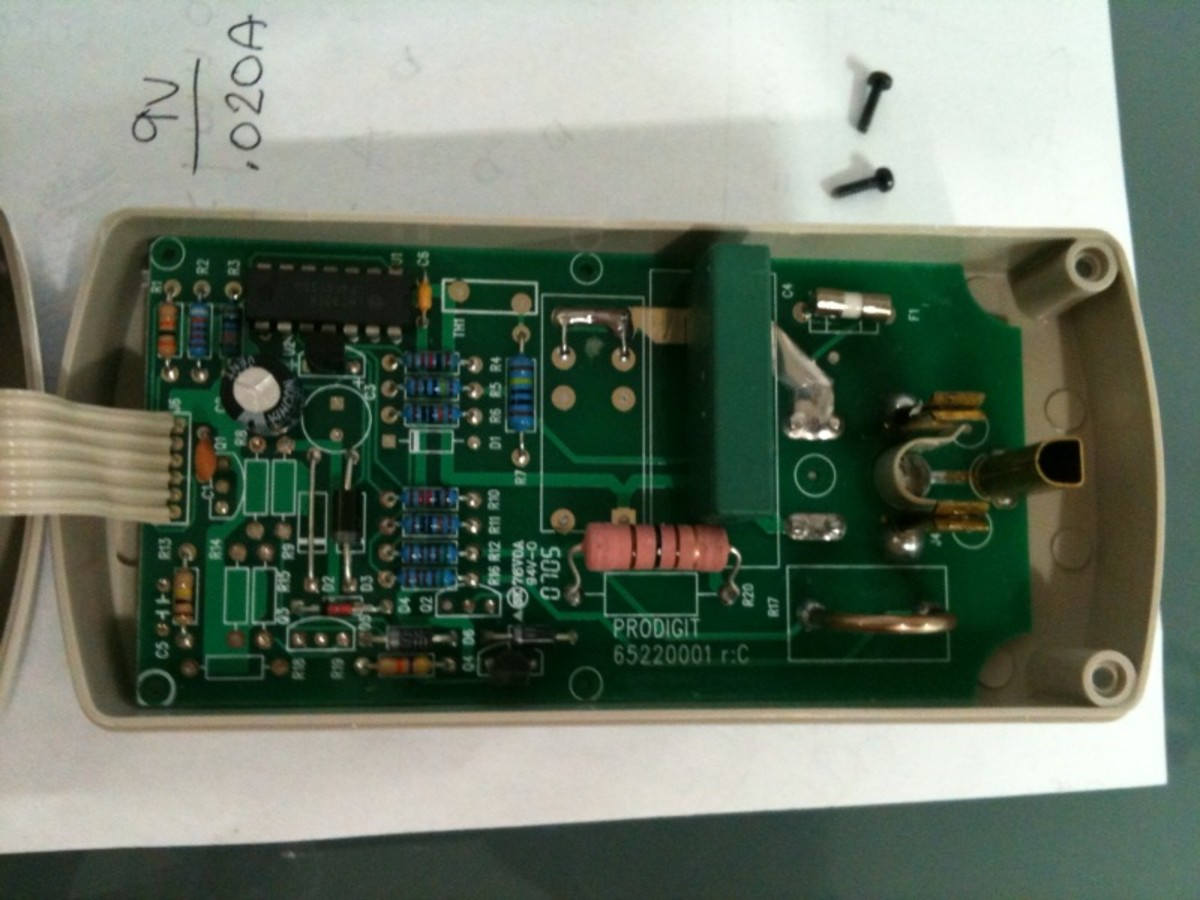 Inside a watt meter. This is the current sense board which converts the current into a voltage which can be interpreted by a microcontroller.