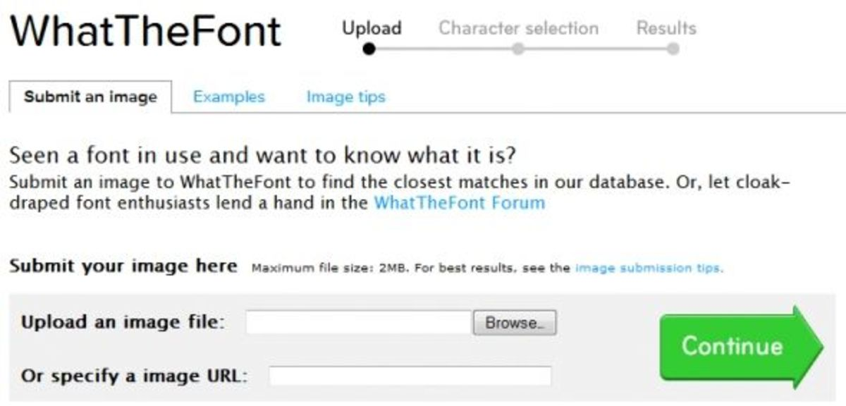 WhatTheFont, and online font identification tool.