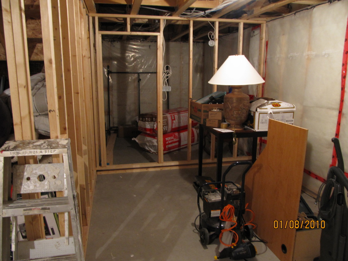 How to frame a floating basement wall by yourself for How to build floating walls in basement