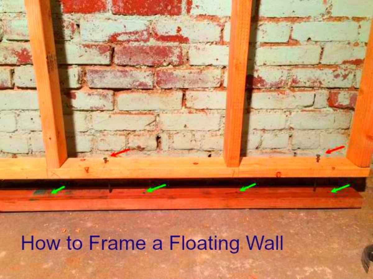 How to Frame a Basement Wall That Floats