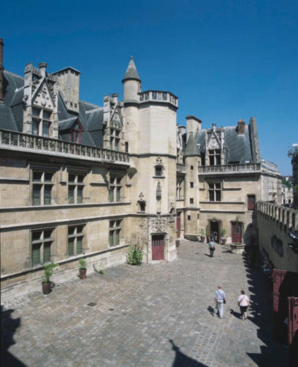 View of the interiora courtyard of the Museum of the Middle Ages, also known as Cluny.