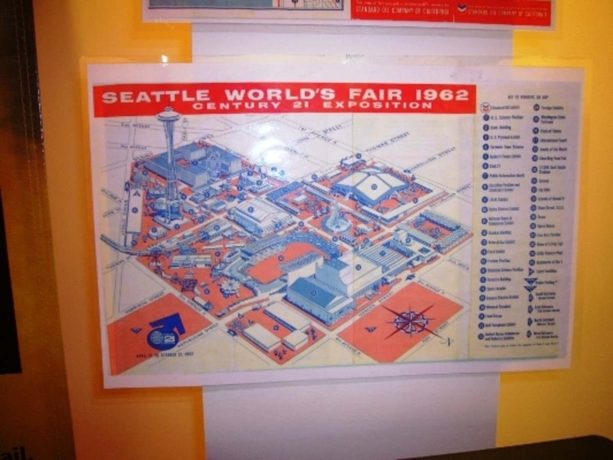A map of the 1962 Century 21 Expo fairgrounds