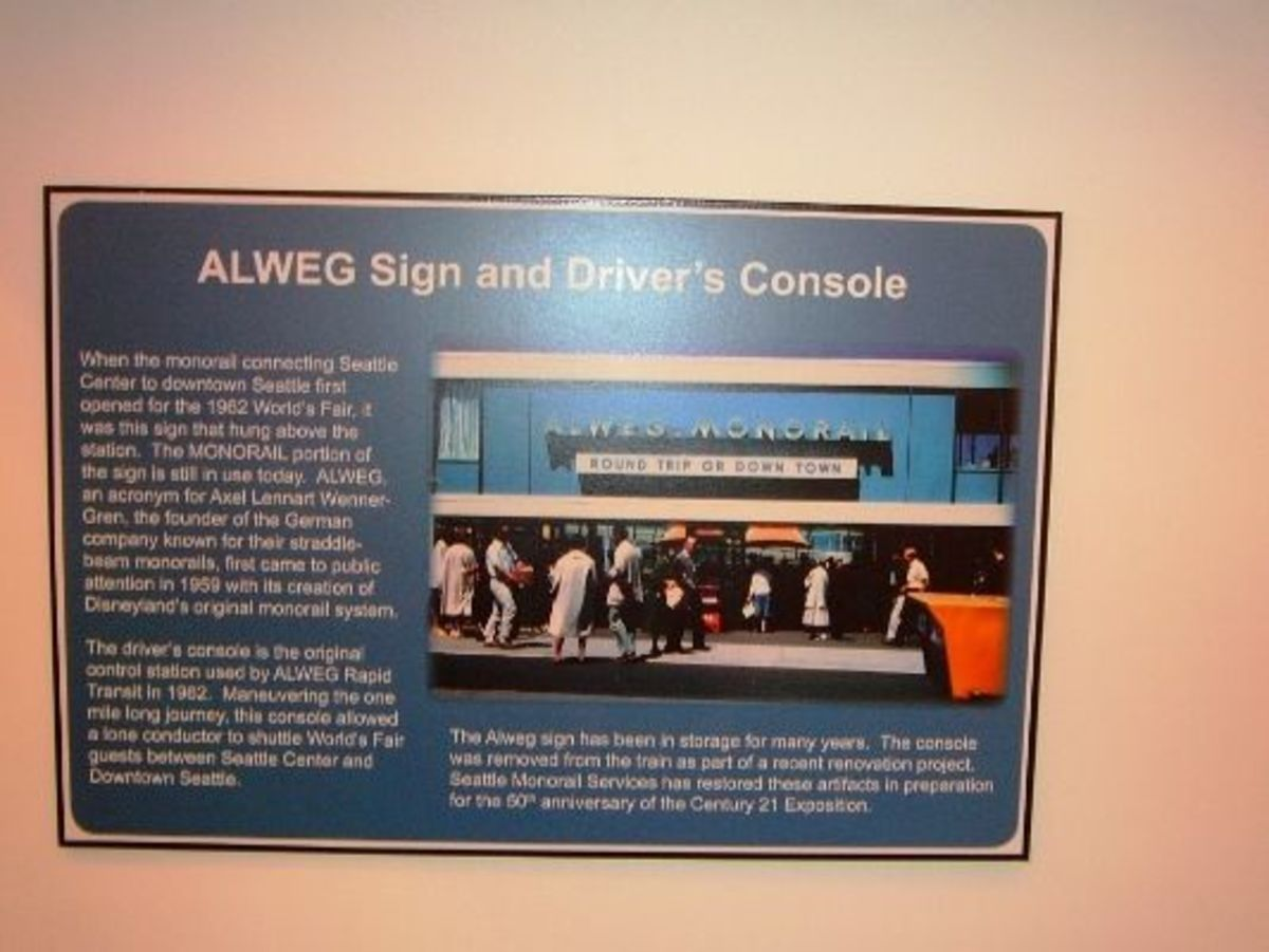 Information about the Seattle World's Fair Alweg Monorail.