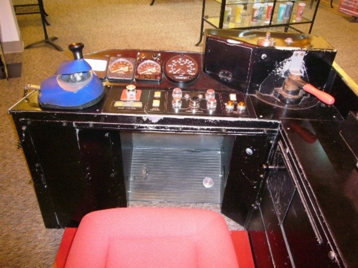 Sit in the driver's seat behind an original console from one of the Seattle Monorail cars.