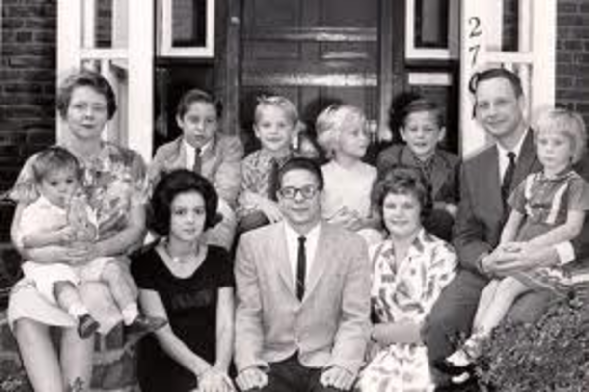 In the early part of the 20th century, large families were considered to be ideal. Parents who had large families, for the most part, were praised as selfless parents. The motto was the BIGGER, the BETTER as there WAS ALWAYS room for ONE more.
