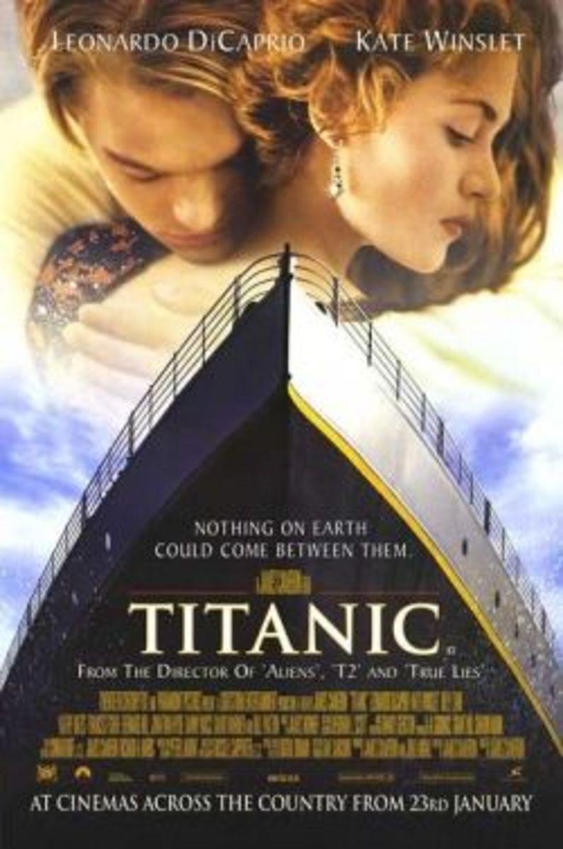 Titanic movie poster dicaprio winslet