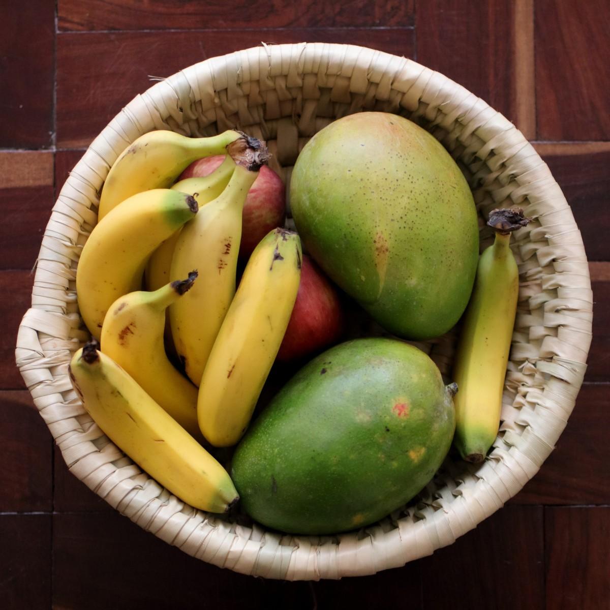 Ripen Mangoes in a Fruitbowl