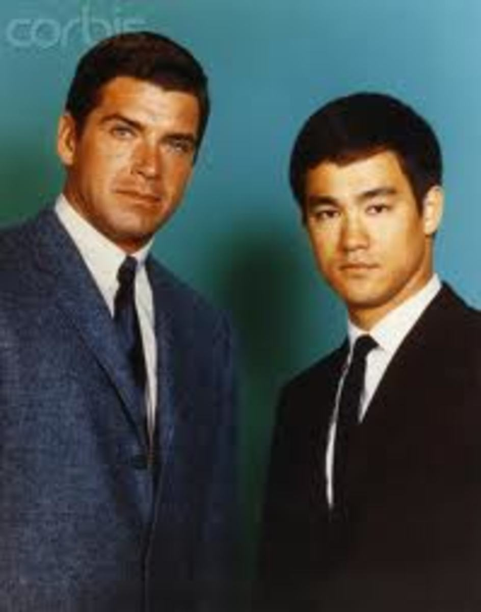 Jay Murray (Green Hornet) and Bruce Lee (Kato)