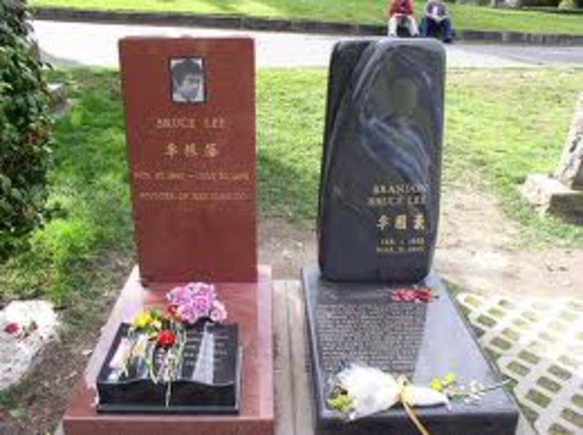 Bruce lee and Brandon Lee are  together.