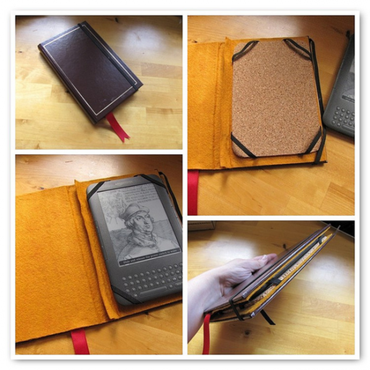 This is a brilliant and simple idea for a Kindle owner, recycling an old book cover into something functional. Cases for electronics are an ideal homemade gift - whether it's for a phone, Kindle, laptop or camera.