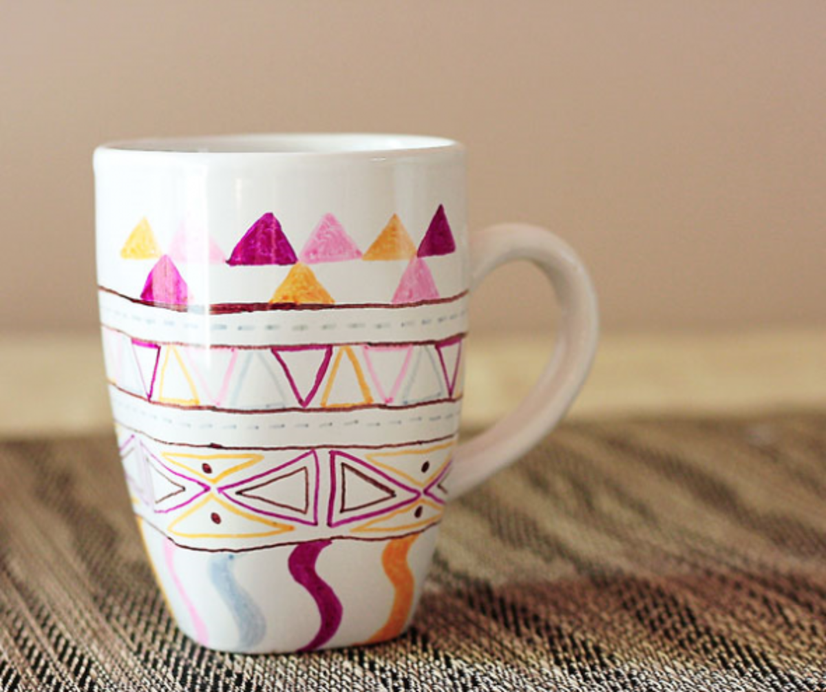 Turn a plain mug into a thoughtful gift with porcelain pens.
