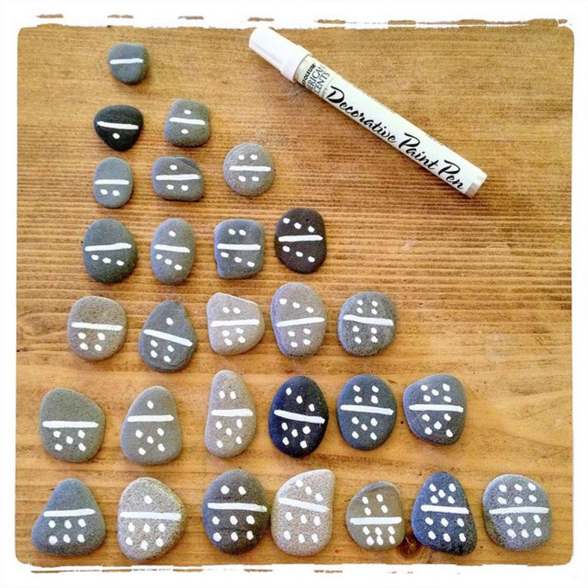 Pebbles and paint...that's all you need!