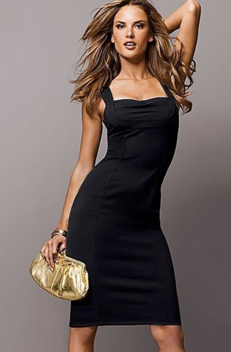 Simple, Shapely Feminine Black Dress from Victoria's Secret