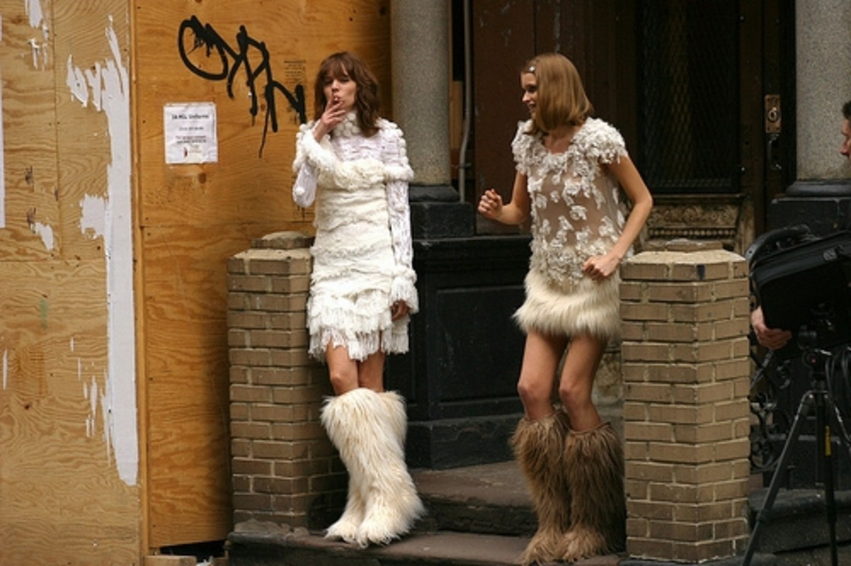 The latest Channel look in furry boots.  What's not to like?  Where to begin?