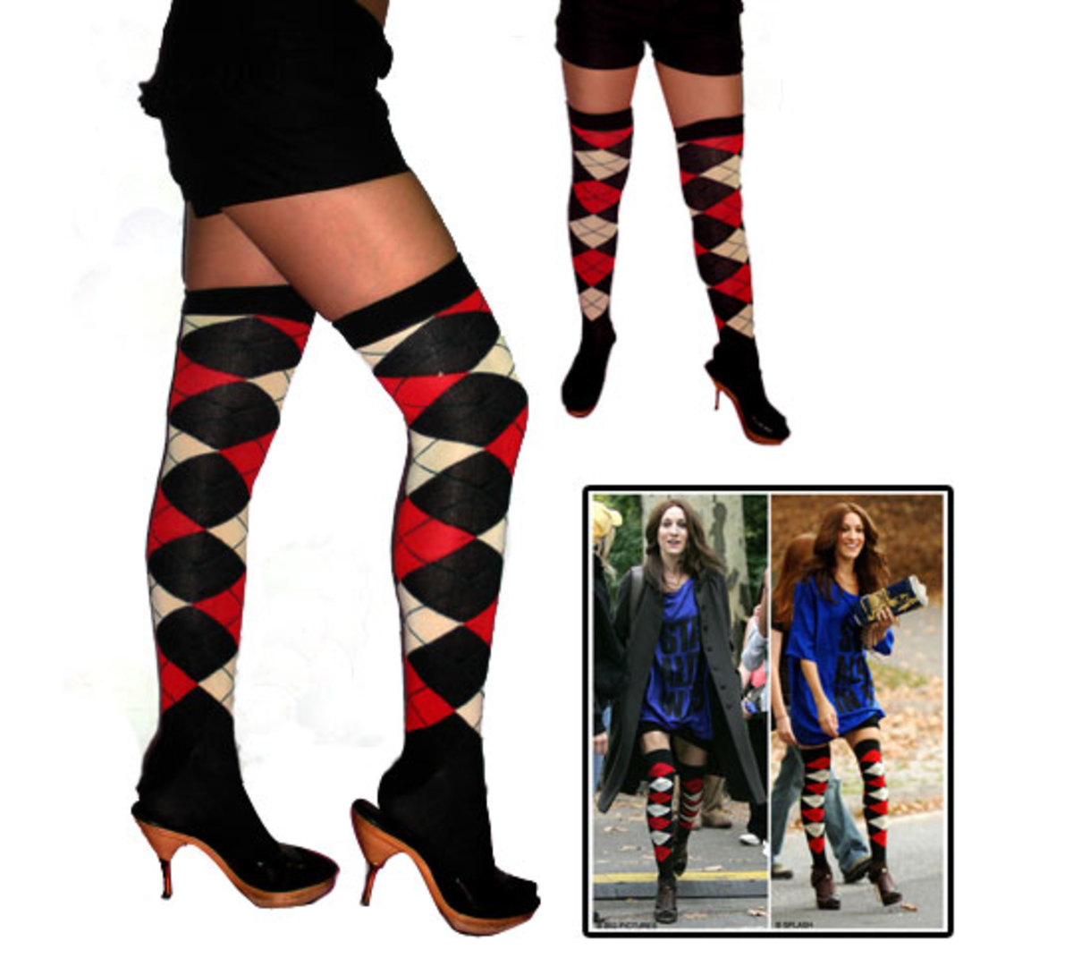 Over the Knee Socks in a Bold, Bright Pattern is a Definite NO