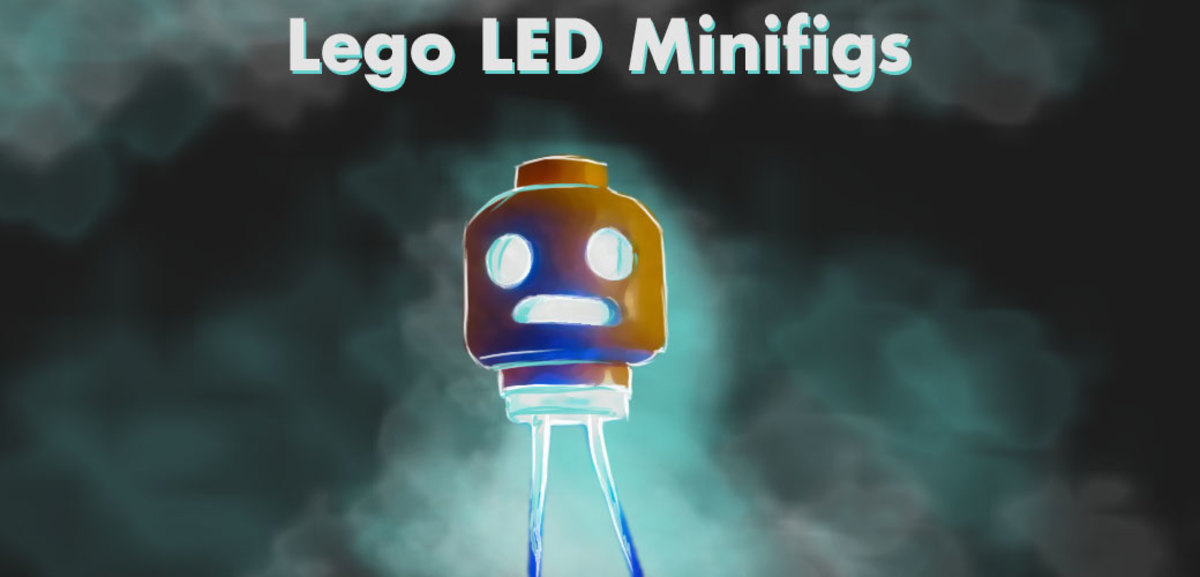 Lego minifig lit by LED.