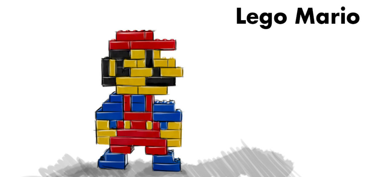 Lego Mario.
